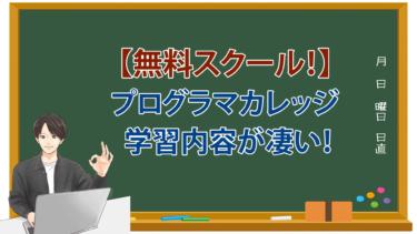 【現役エンジニアが調査!】無料スクールのプログラマカレッジの学習内容がマジで凄かった。